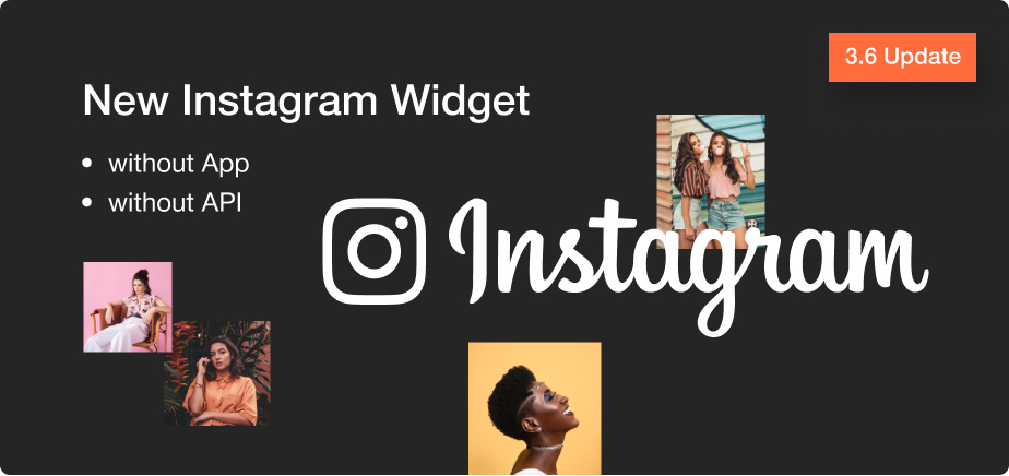 New Instagram widget.